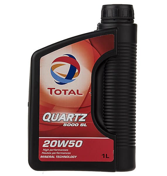 روغن موتور خودرو توتال مدل Quartz 5000 SL یک لیتری 20W-50