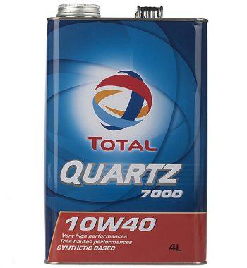 روغن موتور خودرو توتال مدل Quartz 7000 چهار لیتری 10W-40