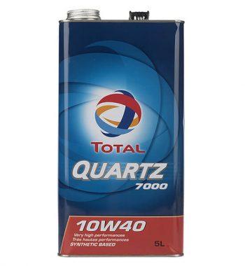 روغن موتور خودرو توتال مدل Quartz 7000 پنج لیتری 10W-40