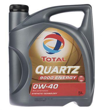 روغن موتور خودرو توتال مدل Quartz 9000 Energy پنج لیتری 0W-40