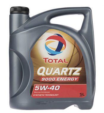 روغن موتور خودرو توتال مدل Quartz 9000 Energy پنج لیتری 5W-40