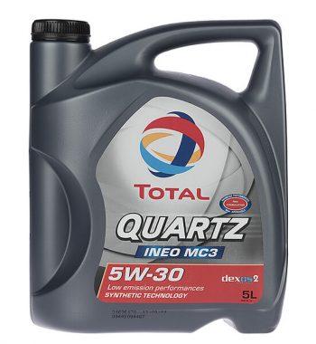 روغن موتور خودرو توتال مدل Quartz INEO MC3 پنج لیتری 5W-30